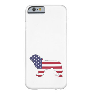 """Newfoundland Dog - """"American Flag"""" Barely There iPhone 6 Case"""
