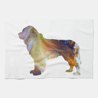 Newfoundland Dog Art Kitchen Towel