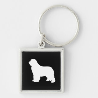 Newfoundland dog beautiful silhouette keychain