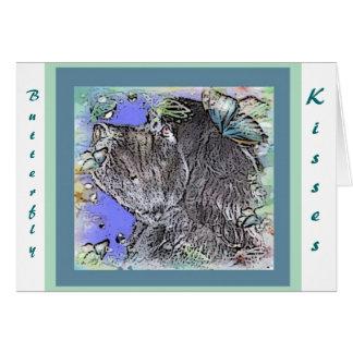 Newfoundland Dog Butterfly Kisses Card