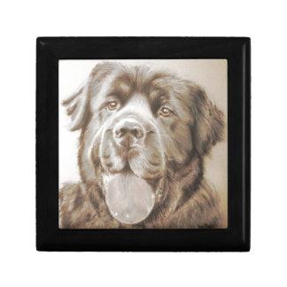 Newfoundland dog keepsake box
