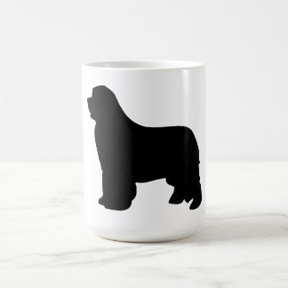 Newfoundland dog mug, black silhouette, gift coffee mug