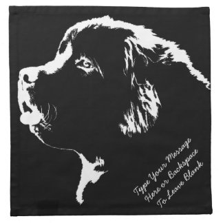 Newfoundland Dog Napkins Personalized Dog Napkins