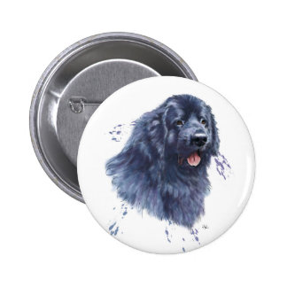 Newfoundland dog newfie Standard badge button