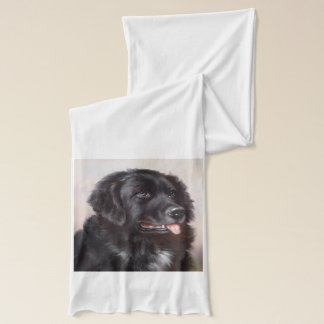 Newfoundland Dog Portrait Scarf