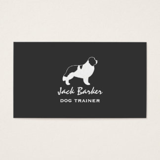 Newfoundland Dog Silhouette - Landseer Business Card