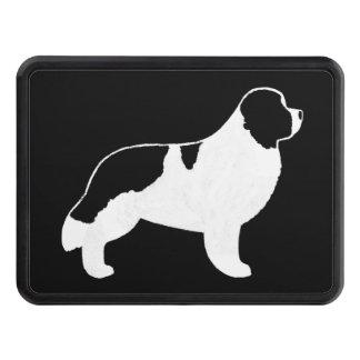 Newfoundland Dog Silhouette - Landseer Trailer Hitch Cover