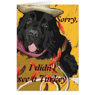 Newfoundland Dog Thanksgiving Card