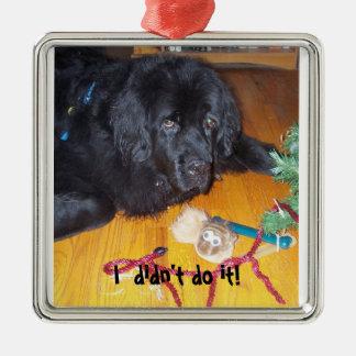 Newfoundland dog tree ornamnet metal ornament