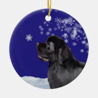 Newfoundland Dog Winter Wonderland Ornament