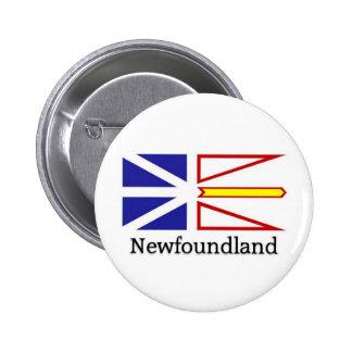 Newfoundland flag 2 inch round button