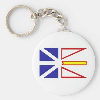 Newfoundland Flag Basic Round Button Keychain