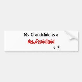 Newfoundland Grandchild Bumper Sticker