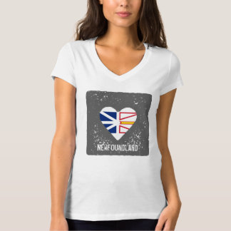 Newfoundland - heart flag T-Shirt