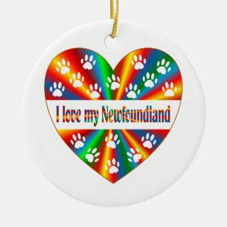 Newfoundland Love Ceramic Ornament