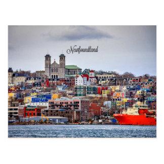 Newfoundland, panoramic cityscape photograph postcard