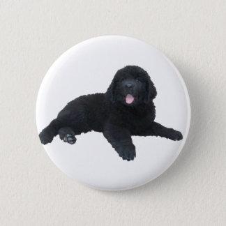 Newfoundland Puppy 2 Inch Round Button