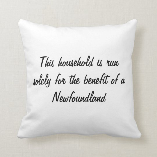Newfoundland puppy dog cute photo cushion