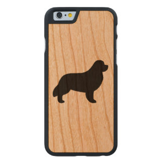 Newfoundland Silhouette Carved Cherry iPhone 6 Case