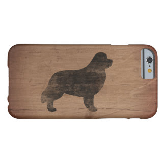 Newfoundland Silhouette Rustic Barely There iPhone 6 Case