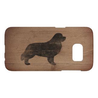 Newfoundland Silhouette Rustic Samsung Galaxy S7 Case