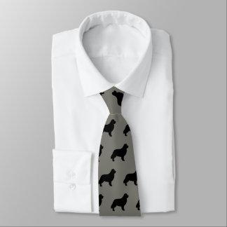 Newfoundland Silhouettes Pattern Tie