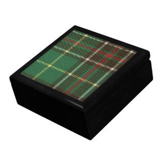 Newfoundland Tartan Ceramic Tile Inlaid Wood Gift  Jewelry Box