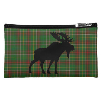 Newfoundland Tartan cosmetic bag moose