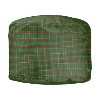 Newfoundland  Tartan cottage pouf seat pilow