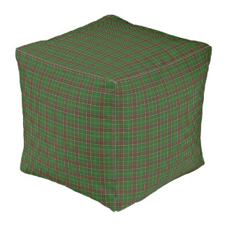 Newfoundland Tartan Custom green Plaid pouf