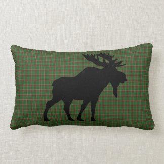 Newfoundland Tartan Custom Moose green Plaid Lumbar Pillow