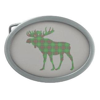 Newfoundland tartan moose belt buckle