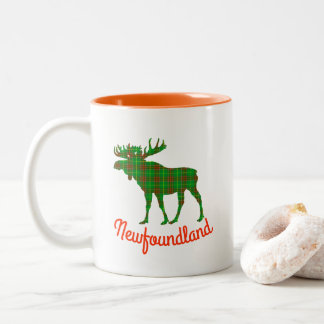 Newfoundland tartan moose coffee cup