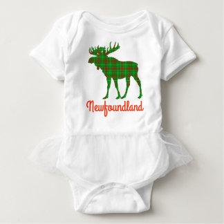 Newfoundland  Tartan moose cute tutu Baby Bodysuit