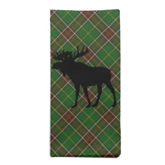 Newfoundland Tartan  set of napkins moose