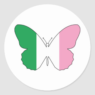 Newfoundland Tricolour Buttlerfly Classic Round Sticker