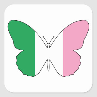 Newfoundland Tricolour Buttlerfly Square Sticker
