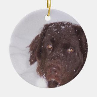 Newfy Girl Christmas Ceramic Ornament