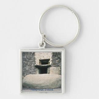 Newgrange Ireland, Spiral art symbols stone Keychain