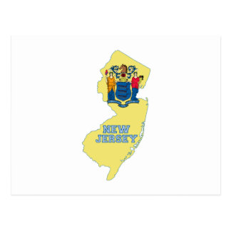 NewJersey State Flag Map Postcard