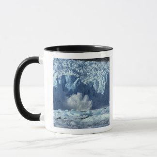 Newly-calved iceberg splashing into chilly mug
