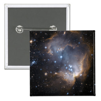 Newly formed stars 2 inch square button