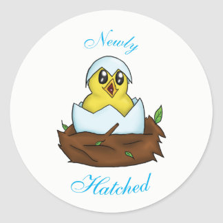 Newly Hatched With Text Sticker