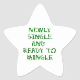 Newly Single and Ready to Mingle - 1 - Green Star Stickers