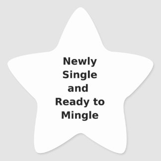 Newly Single and Ready to Mingle - 2 - Black Stickers