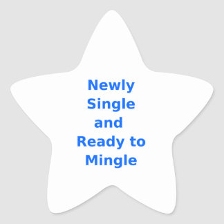 Newly Single and Ready to Mingle - 2 - Blue Star Stickers