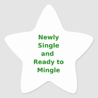 Newly Single and Ready to Mingle - 2 - Green Sticker
