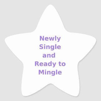 Newly Single and Ready to Mingle - 2 - Violet Stickers