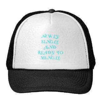 Newly Single and Ready to Mingle - 3 - Cyan Trucker Hats