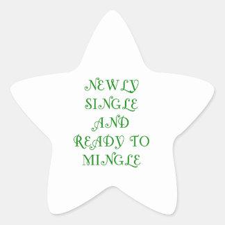 Newly Single and Ready to Mingle - 3 - Green Star Sticker